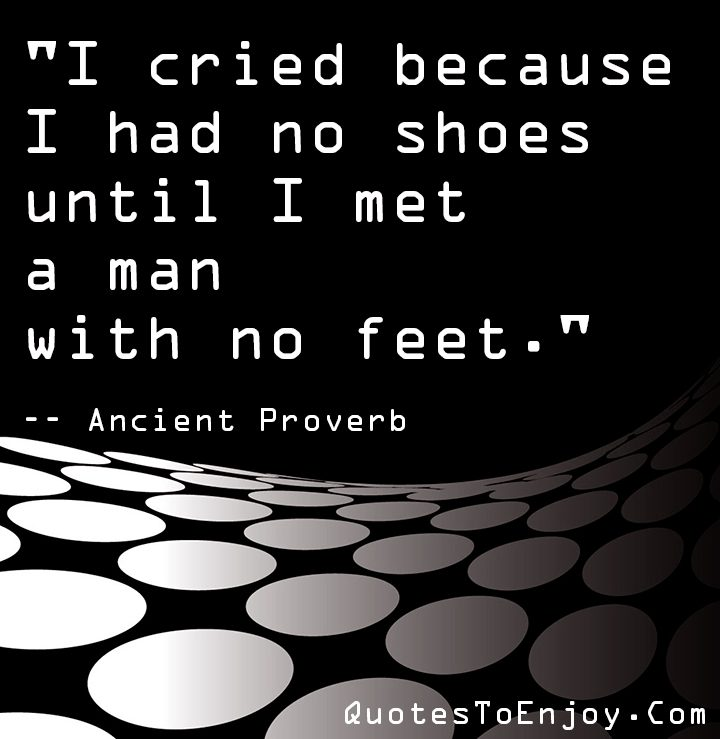 Ancient Proverb