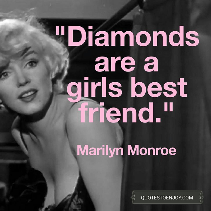 the message about free market in marilyn monroes diamonds are a girls best friend This item diamonds are a girls best friend marilyn monroe wall quotes sayings vinyl decals art a smile is the best makeup-marilyn monroe wall sticker paper quote decal art decor a girl doesn't need anyone who doesn't need her.